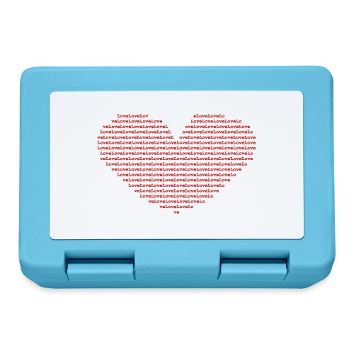 Isle of red Ascii Heart - Lunchbox