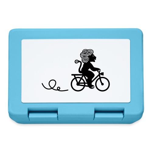 Züri-Leu beim Velofahren ohne Text - Brotdose