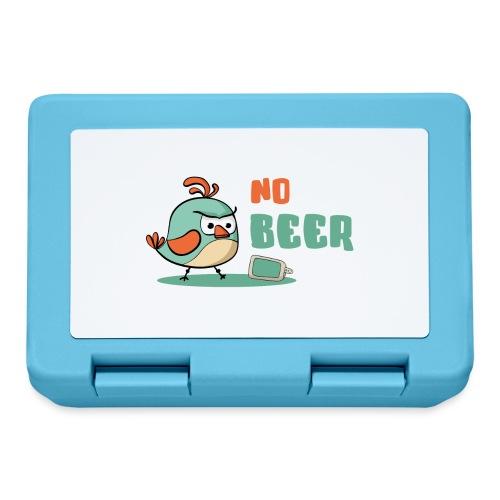 No Beer / Kein Bier / genervter Schluckspecht - Brotdose