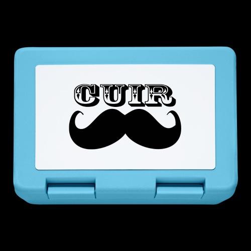 Cuir Moustache - Logo Noir - Lunchbox