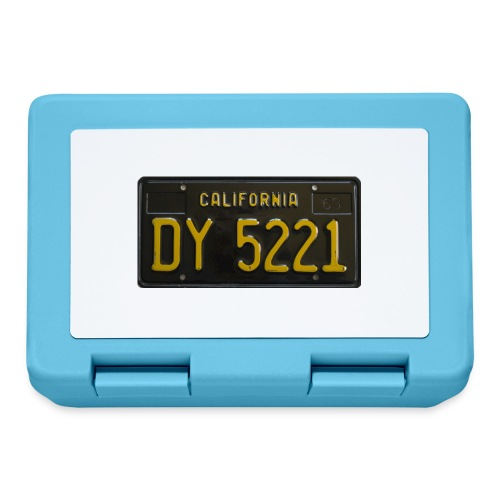 CALIFORNIA BLACK LICENCE PLATE - Lunchbox