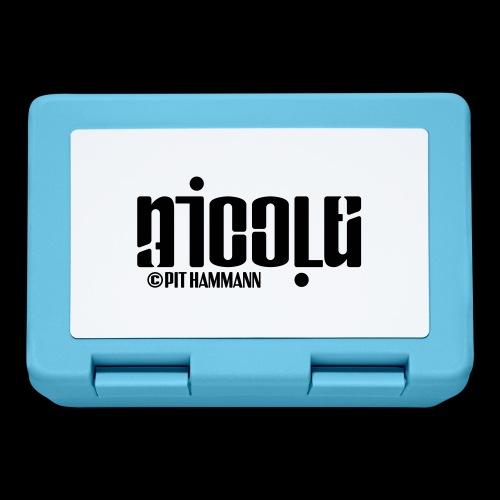 Ambigramm Nicole 01 Pit Hammann - Brotdose