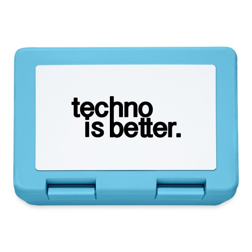 techno is better logo - Pudełko na lunch