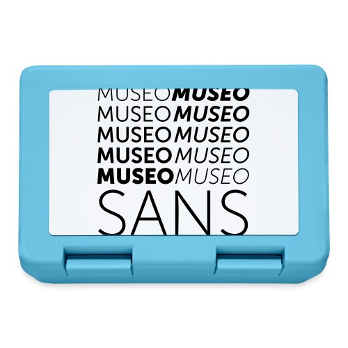 museo sans - Lunchbox