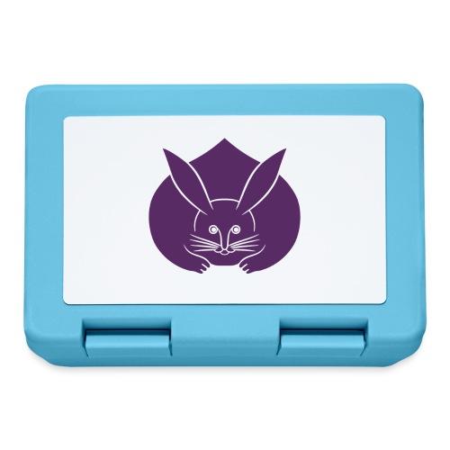 Usagi kamon japanese rabbit purple - Lunchbox