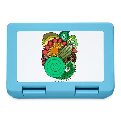 Coloured Leaf Mandala - Lunchbox