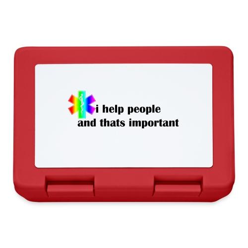 i help people - Broodtrommel