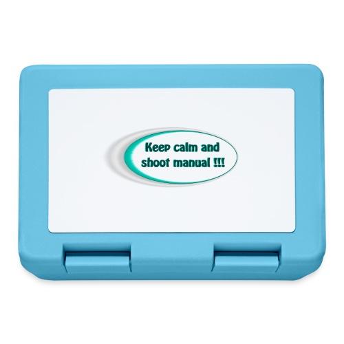 Keep calm and shoot manual slogan - Lunchbox
