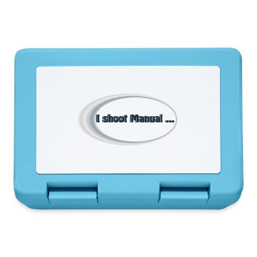I shoot manual slogan - Lunchbox
