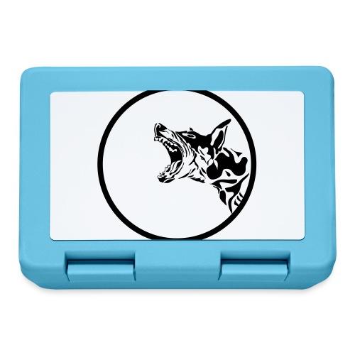 dog in a circle frame - Boîte à goûter.