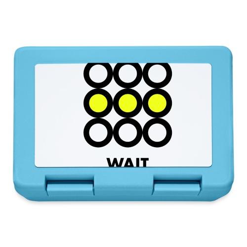 Wait. Vedi anche i motivi Stop e Go! - Lunch box