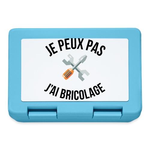 JE PEUX PAS - J'AI BRICOLAGE - Boîte à goûter.
