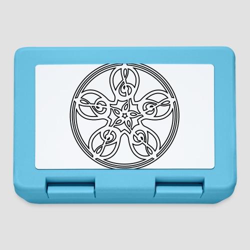 Treble Clef Mandala (white/black outline) - Lunchbox