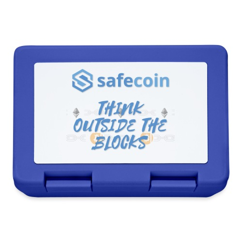 SafeCoin; think outside the blocks (blue) - Lunchbox
