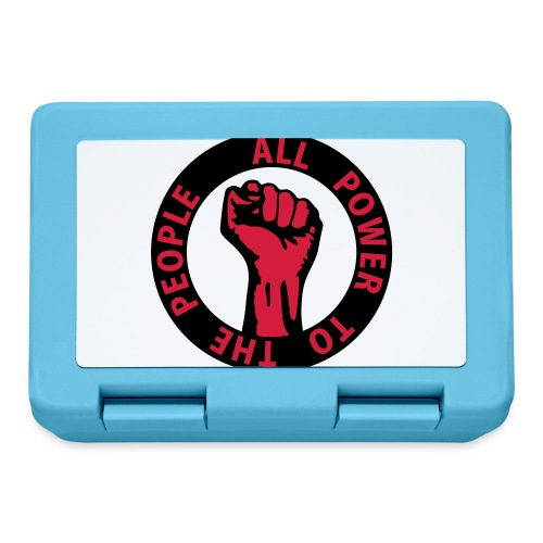 2 colors - all power to the people - against - Brotdose