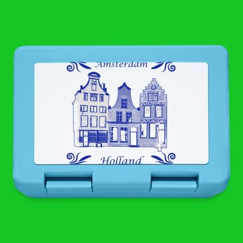 Holland Grachtenpanden Delfts Blauw - Broodtrommel