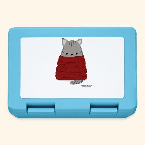 Katze im Winter mit Schal - Brotdose