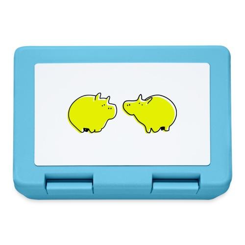 Cochons jaunes - Boîte à goûter.