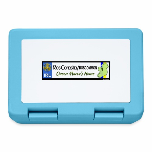 ROSCOMMON, IRELAND: licence plate tag style decal - Lunchbox