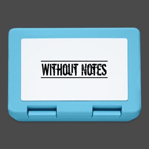 Without Notes Schriftzug Nummer 1 - Brotdose