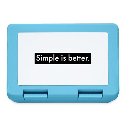Simple Is Better - Lunchbox