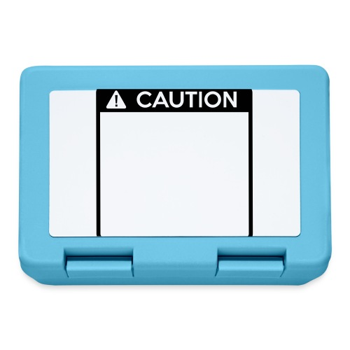Caution Sign (1 colour) - Lunchbox