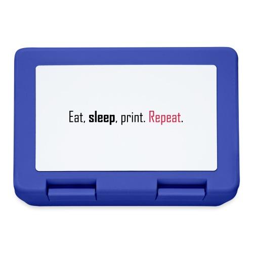 Eat, sleep, print. Repeat. - Lunchbox
