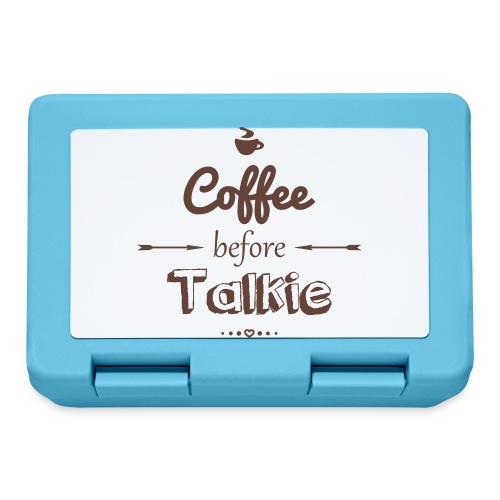 Coffee befor talkie - Brotdose
