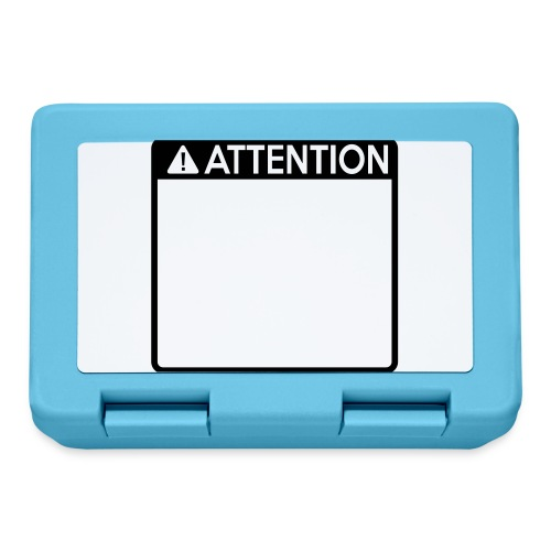 Attention Sign (1 colour) - Lunchbox