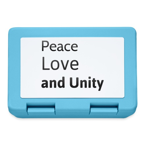 Peace love and unity - Lunchbox