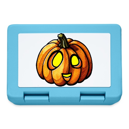 Pumpkin Halloween watercolor scribblesirii - Lunchbox