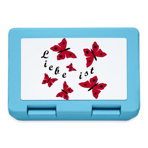 Liebe mit Schmetterlinge - Brotdose
