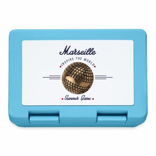 Marseille inspire the world Bleu - Boîte à goûter.
