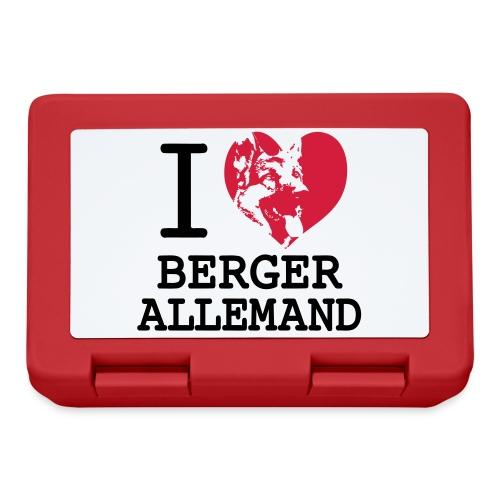 I love Berger Allemand - Boîte à goûter.