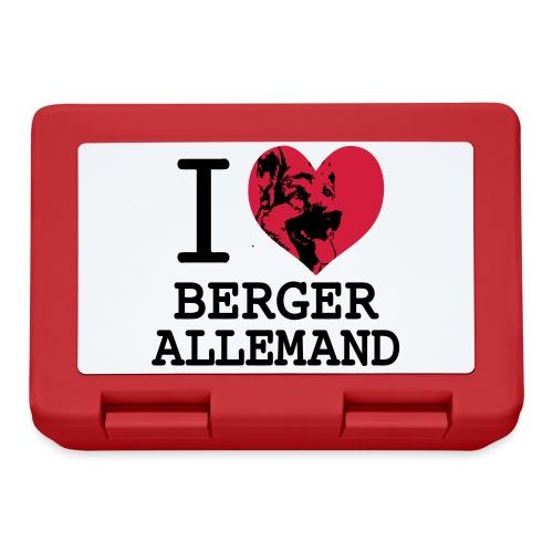 I love Berger Allemand 2 - Boîte à goûter.