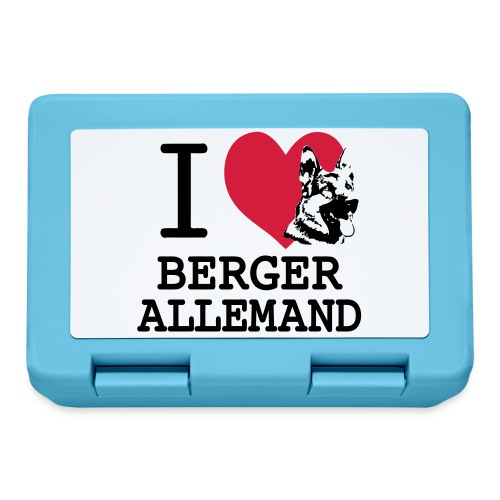 I love Berger Allemand tete - Boîte à goûter.