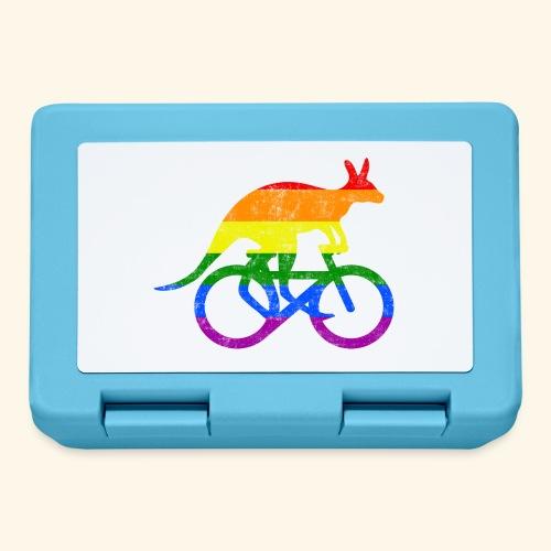 Radfahrer Känguru lustiges Fahrrad Regenbogenfahne - Brotdose