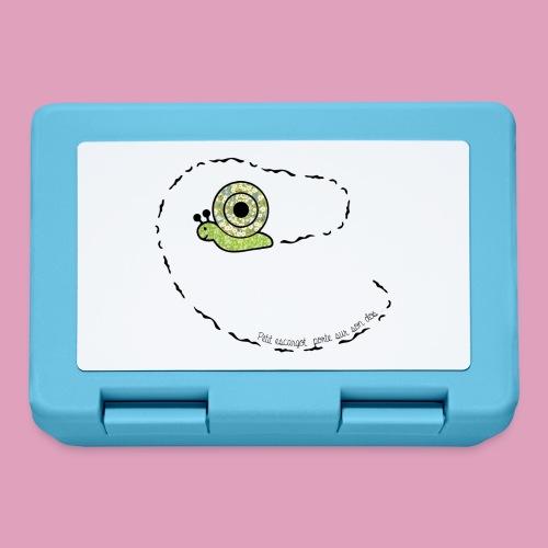 Petit escargot porte sur son dos... (Tasse) - Boîte à goûter.