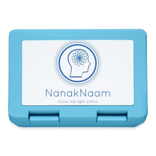 Nanak Naam Logo and Name - Blue - Lunchbox