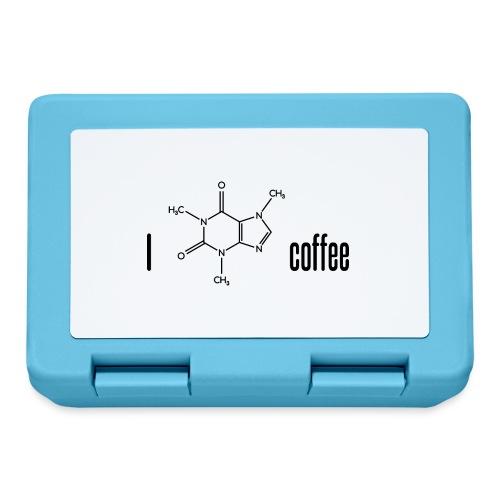 Ich liebe Kaffee - mit Koffein-Molekül - Brotdose