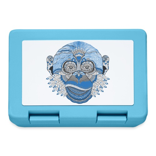 Affe Monkey Kunst Geschenkidee Geschenk - Brotdose