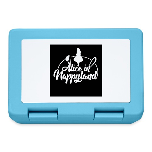 Alice in Nappyland TypographyWhite 1080 - Lunchbox