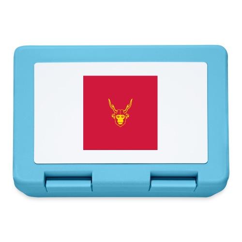 scimmiacervo sfondo rosso - Lunch box