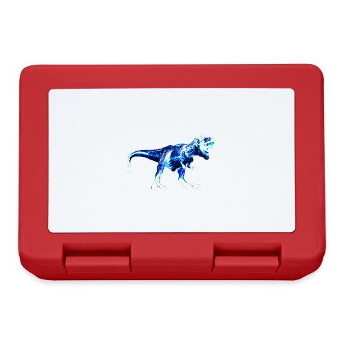 T-rex négatif bleu - Boîte à goûter.