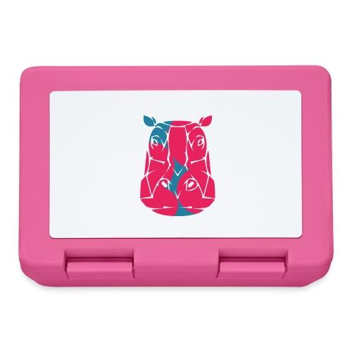 Hippo in het roze en blauw - Broodtrommel