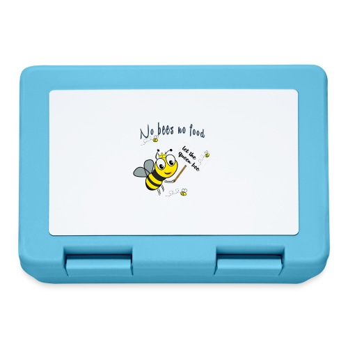 Save the bees with this cute design! Red de bij - Broodtrommel