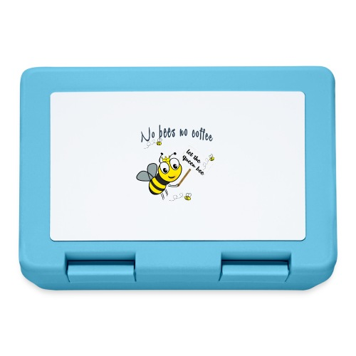 Save the bees with this cute design! Steun de bij - Broodtrommel