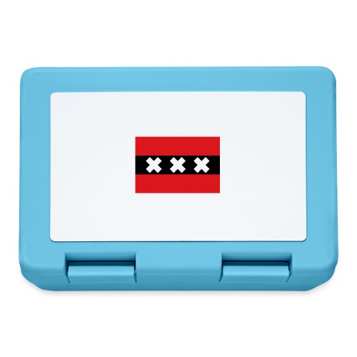 750px Flag of Amsterdam svg - Lunch box