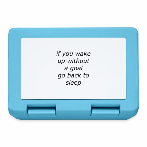 wake up with a goal - Broodtrommel
