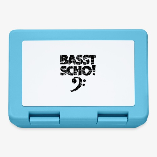 BASST SCHO! Bass Bassschlüssel Bassisten - Brotdose